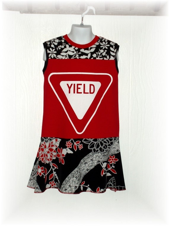 Upcycled Repurposed YIELD T-Shirt Dress Size 4-5