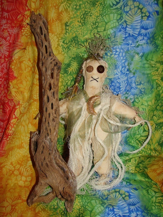 Bayou Swamp Ju Ju Folk Art Voodoo Doll