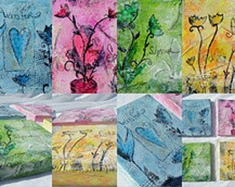 Sale price!  Fun With Faux Encaustics, Paint Collage and Play Unlimited Access, Online art class with Jodi Ohl