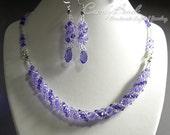 Purple and Lavender Twisty Swarovski Crystal Set by CandyBead (J007-01)