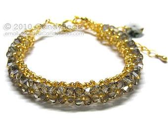 Black Diamond Swarovski Crystal Bracelet by CandyBead