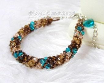 Coco & Green Twisty Swarovski Crystal Bracelet by CandyBead