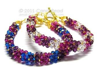 Luxurious Swarovski Crystal White Berry Bracelet by CandyBead