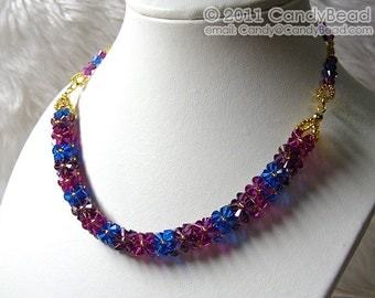 Luxurious Swarovski Crystal Berry Necklace by CandyBead
