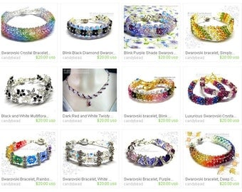 Buy 4, GET 1 FREE - Any 4 of 20 USD Swarovski Bracelet, Swarovski Necklace and more