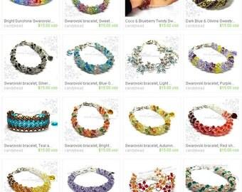 Buy 5, GET 1 FREE - Any 5 of 15 USD Swarovski Bracelet, Swarovski Necklace and more