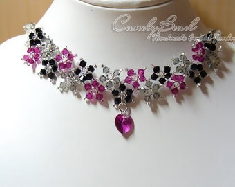 Sweet Multiflora Genuine Swarovski Crystal Matching Set: Necklace, bracelet and earrings by CandyBead
