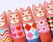 Child's scandinavian softie toy mini cat by Jane Foster