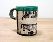 Mug with Barn Print