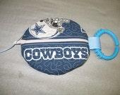 Dallas Cowboys Pacifier pod holder paci pod clip READY TO SHIP