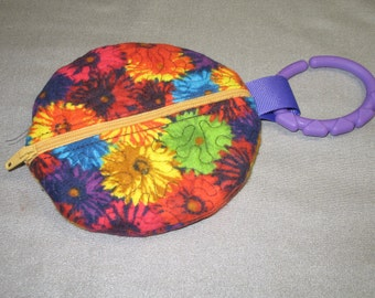 Paci Pouch - Paci Pod - flowers - Pacifier clip - READY TO SHIP  - Pacifier holder - pacifier pod