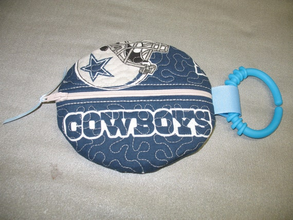 Paci Pouch - Paci Pod - Dallas Cowboys - Pacifier clip - READY TO SHIP  - Pacifier holder - pacifier pod