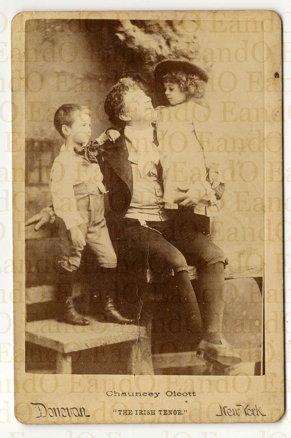 Antique Rare Cabinet Card Publicity Photo of Chauncey Olcott The Irish Tenor 1880s 1890s