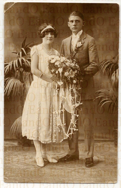 Vintage Exceptional Rare 1920s Wedding Portrait Flapper Girl