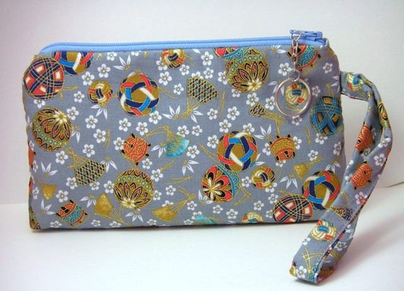 Versatile Wristlet in Japanese Fabrics