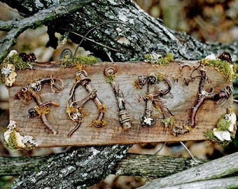 Twig Fairy Sign Custom Order, name sign, childs room, garden sign, shop sign, house name and number,