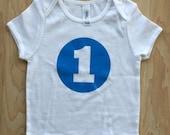 1st birthday t-shirt - BLUE