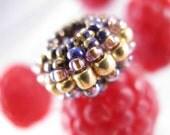 Mini Honeyberry Macroon Bead - Pandora Style European Charm Bead
