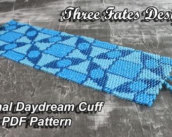 Eternal Daydream  // Cuff Pattern // Bracelet // Peyote Stitch
