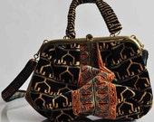 Vintage carpet bag purse kilim fabric best