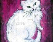 Gretchen - Kitty Angel  - Cat Print