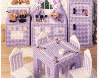 Dollhouse Kitchen  ~   plastic canvas pattern