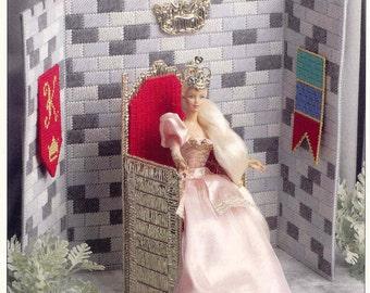 Fashion Doll Throne Room  --  plastic canvas pattern
