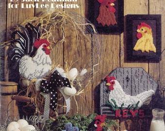 The Hen House ~   plastic canvas leaflet