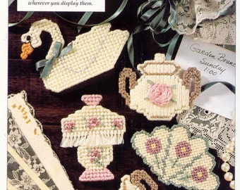 VERY VICTORIAN    plastic canvas pattern    MAGNETS