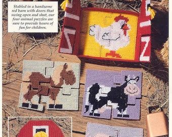 BARNFUL OF PUZZLES  ~  plastic canvas pattern