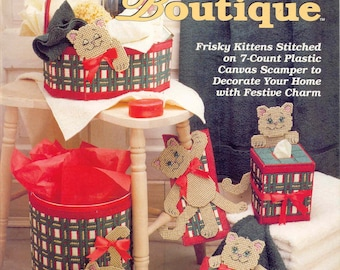 Holiday Kitty Boutique ~   plastic canvas book  ~  CAT patterns