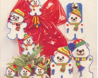 Snowy Bears ~  plastic canvas leaflet