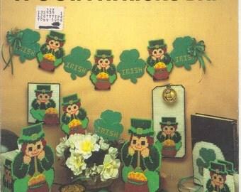 it's St.'s Patricks Day  -  plastic canvas leaflet