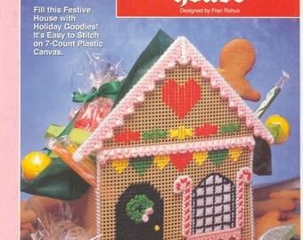 GINGERBREAD HOUSE   plastic canvas leaflet