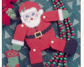 Santa Puppet ~   plastic canvas pattern  ~  Annie's  ~  Christmas pattern