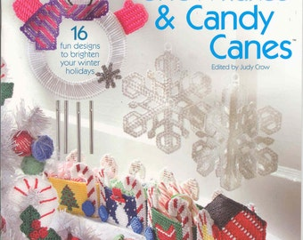 Snowmen, Snowflakes and  Candy Canes -   plastic canvas book