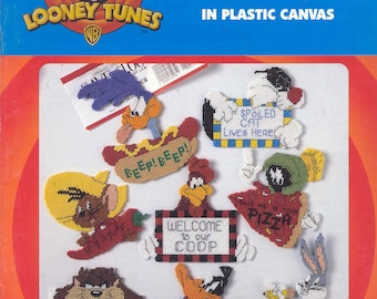 Looney Tunes More Magnets  ~  plastic canvas book  ~    17 designs
