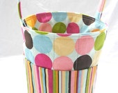 Creative Kids Art Bucket - Modern Sweetie DOTS with Stripe - Great for kids of all ages