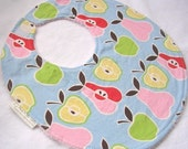 Apples and Pears - Boutique Bib with snag free velcro closure