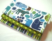 2D Zoo in Pool - Boutique Burp Cloth Gift Set for Baby Boy or Girl