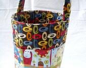 Creative Kids Art Bucket - Dino Land -  Fabric Basket Art Supply Organizer - MADE TO ORDER