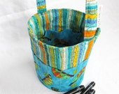 Creative Kids Art Bucket - Chameleons and Stripes - Fabric Basket Art Supply Organizer - Ready to Ship Great Easter Basket