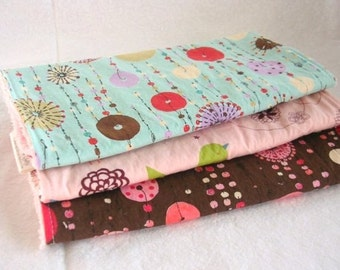 Starling in Pink Boutique Burp Cloth Gift Set for Baby Girl - set of 3 burp pads - LAST ONE