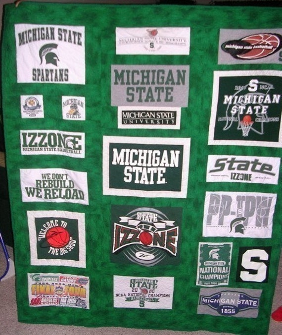 T-shirt Quilt - Custom made - Turn your shirts into a cozy quilt that will last a lifetime - Throw to Twin Size Listing