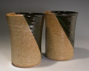 Stoneware pottery Tumbler set