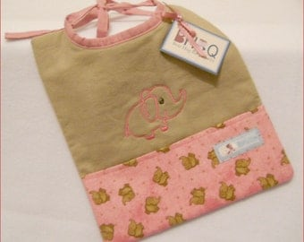 POCKET BIB  for Baby Girl / ToddlerGirl with FREE Personalization