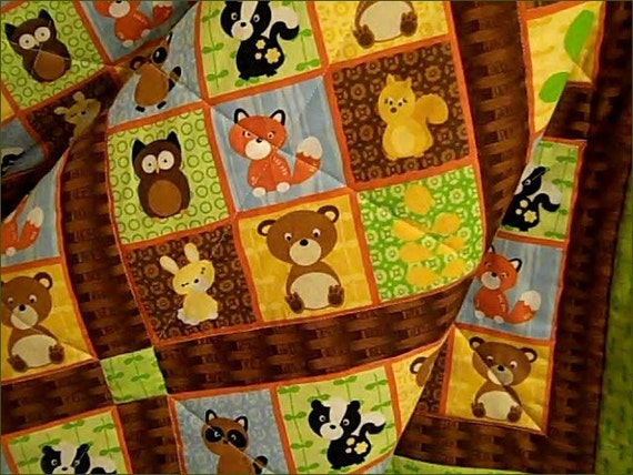 Forest Animal Baby Quilt