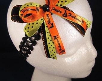 Girls Halloween stretchy hair headband