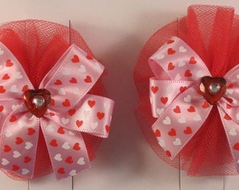Girls Holiday french barrette sets - Valentine's Day