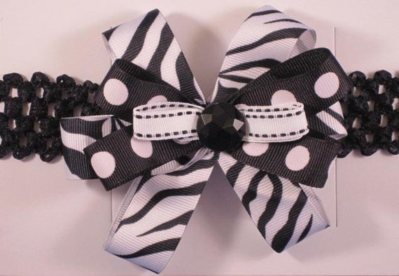 Stretchy hair bands - with ribbon